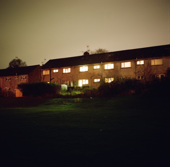 Terraced Houses at Night 2015_1280